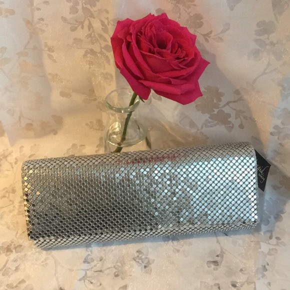 Magid Evening Handbags - Magid Silver Evening Bag Clutch
